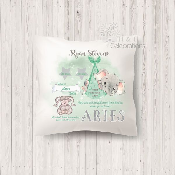 Aries - Baby Star Sign Keepsake Cushion